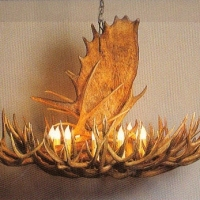 Moose-Deer Chandelier