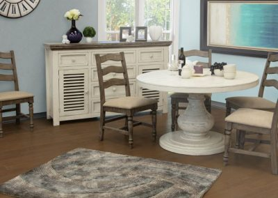 ivory dining room table