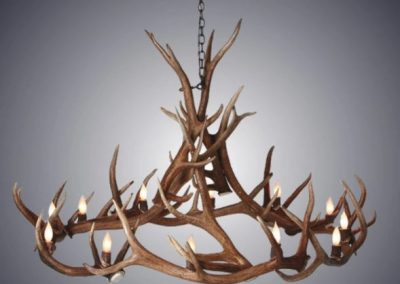 large antler chandelier
