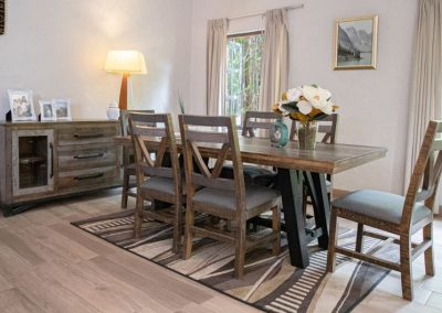 loft brown dining room table
