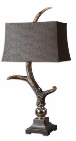 uttermost elk horn table lamp