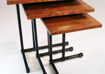 copper top table
