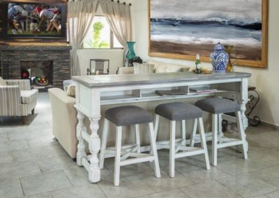 height living room bar table