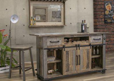 loft brown kitchen bar/island