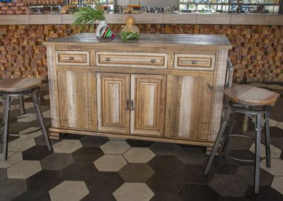 marquez kitchen island with bar stools