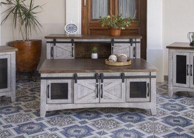 pueblo gray living room table